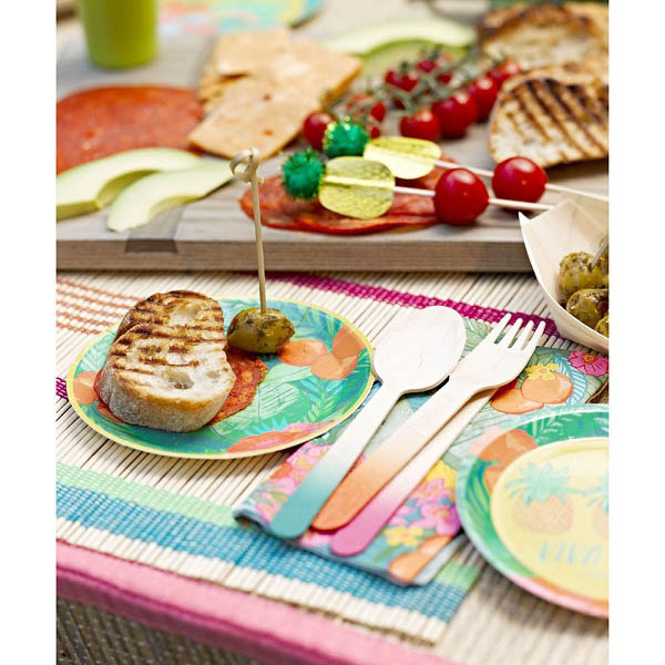 Party Camel  Tropical Fiesta Canape Plates