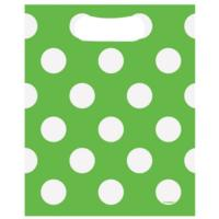 Lime Green Polka Party Loot Bags