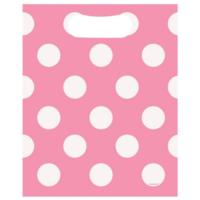 Hot Pink Polka Party Loot Bags