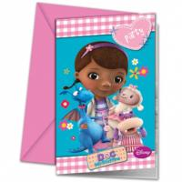 Doc McStuffins Invitation Cards