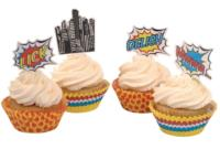 Pop Art Party - Cupcake Cases & Toppers