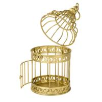 Be Happy Birdcage Gold