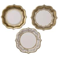 Party Porcelain Gold Medium Plate
