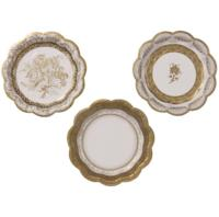 Party Porcelain Gold Small Plate