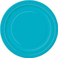 Caribbean Teal Round Plate 9