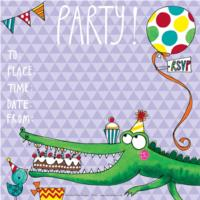 Party Invite Crocodile