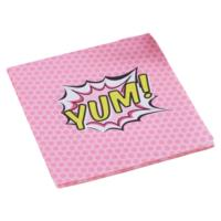 Pop Art Pink Napkins