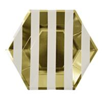 Toot Sweet Gold Stripe Plate