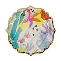 TS Painted Flowers Small Plate
