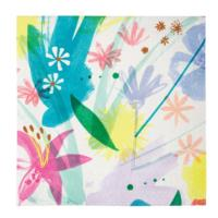 TS Painted Flowers Large Napkin