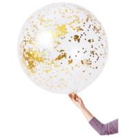 Jumbo Confetti Balloon Gold