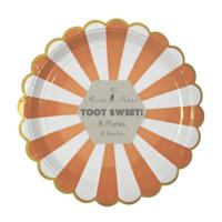 Toot Sweet Large Orange Striped Plate