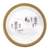 Nordic Christmas Paper Plates