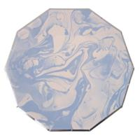 Marble Blue Pattern Large Plate