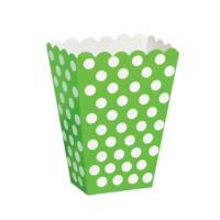 8 Lime Green Treat Boxes