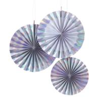 Iridescent Party - Fan Decorations