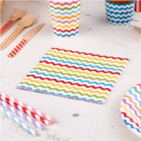 Carnival Multicoloured Waves Napkins