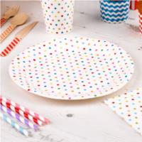 Carnival Multicoloured Dotty Plates