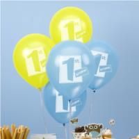 1st Birthday Balloons Blue
