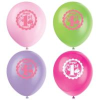 Pink Safari 1st Birthday Balloons