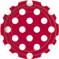 Ruby Red Dot Plates 7