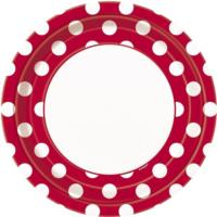 Ruby Red Dot Plates 9