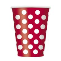 Ruby Red Dot Cups