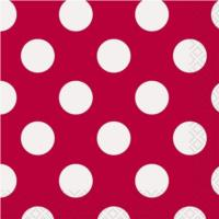 Ruby Red Dot Napkins