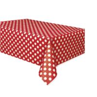 Ruby Red Dot Table Cover