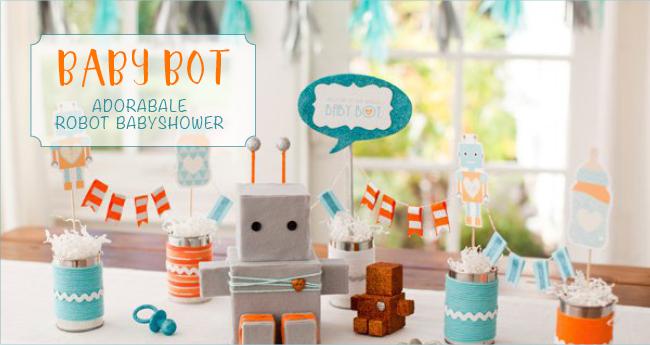 Robot Baby Shower