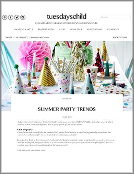 Summer party trends