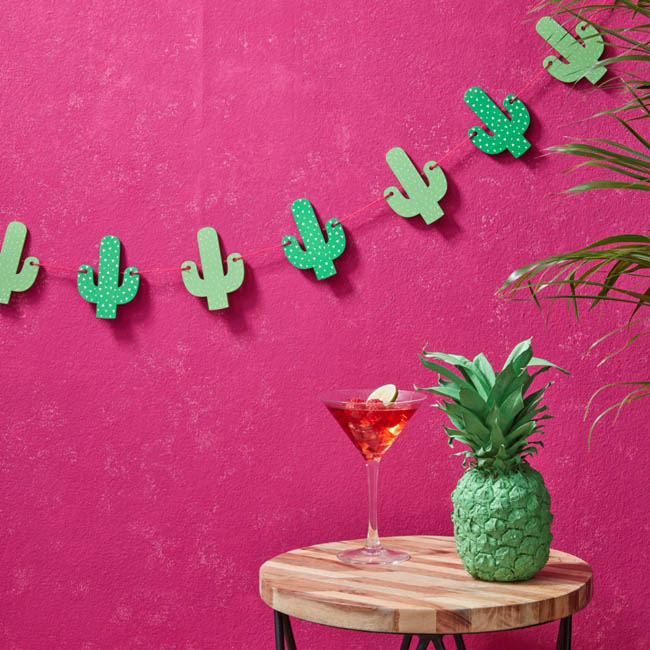 Party Camel Hot Summer Bunting Wooden Cactus