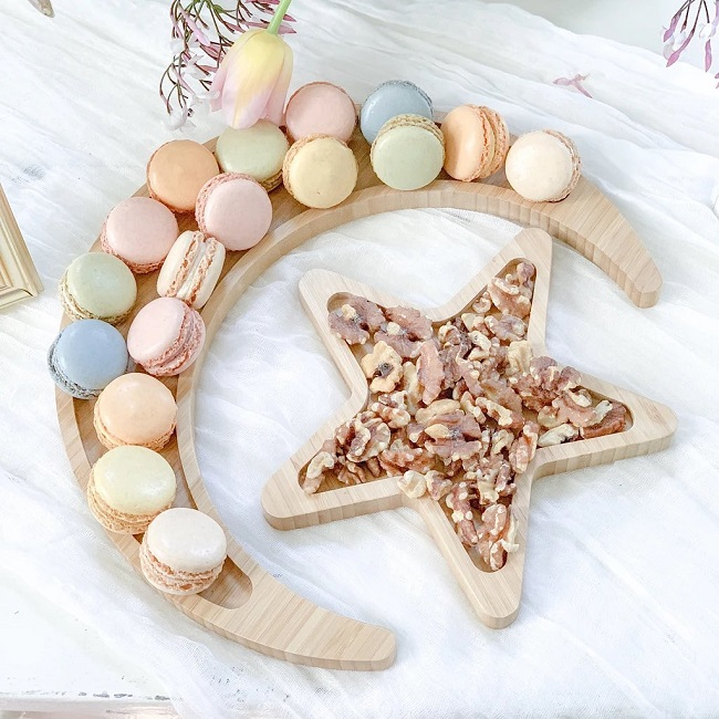 Crescent and Star Tray Set