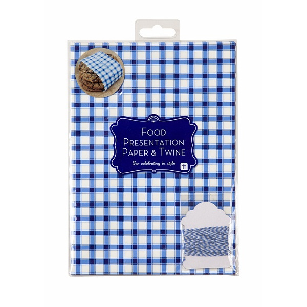 Paper Porcelain Blue Greaseproof Paper & Twine