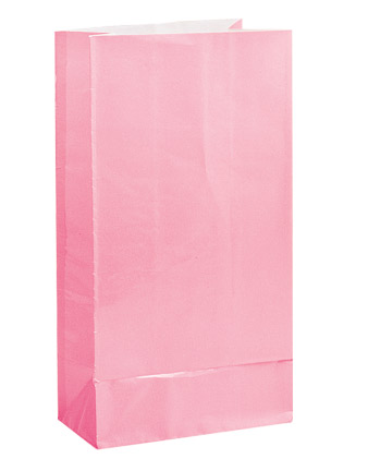 Paper Bags Light Pink 12Pack