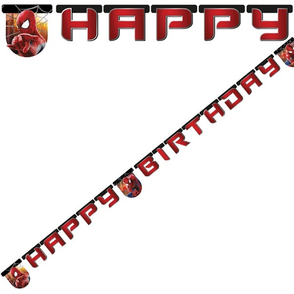Spiderman 2 Happy Birthday Letter Banner By Party Camel