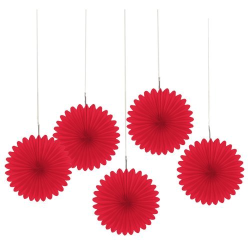 Mini Red Hanging Fans