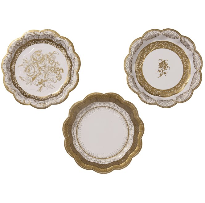 Porcelain Gold Small Plate