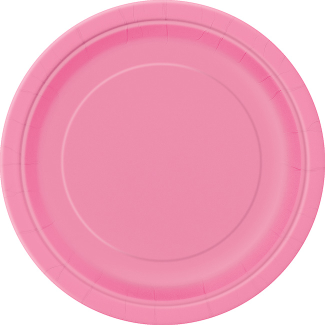 Hot Pink Round Plate 9