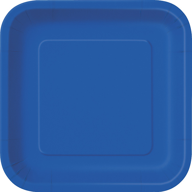 Royal Blue Square Plate 7