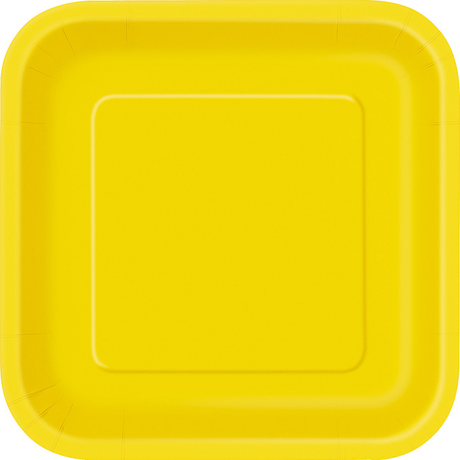 Sunflower Yellow Square Plate 9
