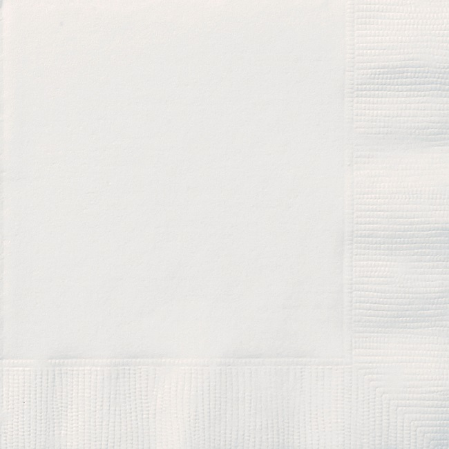 Bright White Luncheon Napkin
