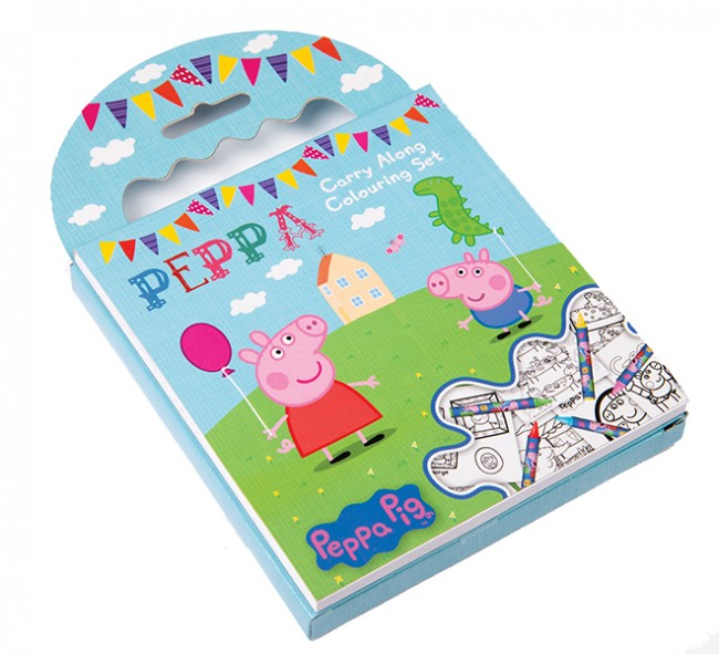 Peppa's Carry-along colouring set
