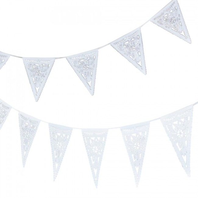 Boho Floral Paper Bunting