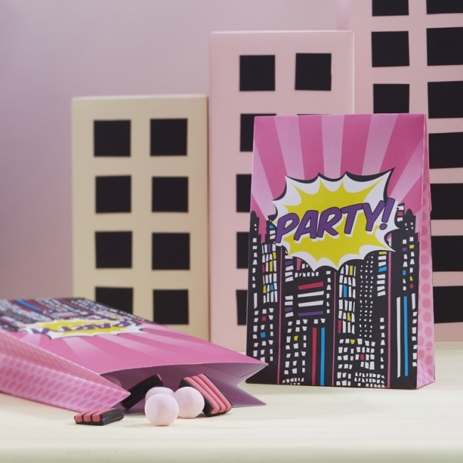 Pop Art Pink Party Bags