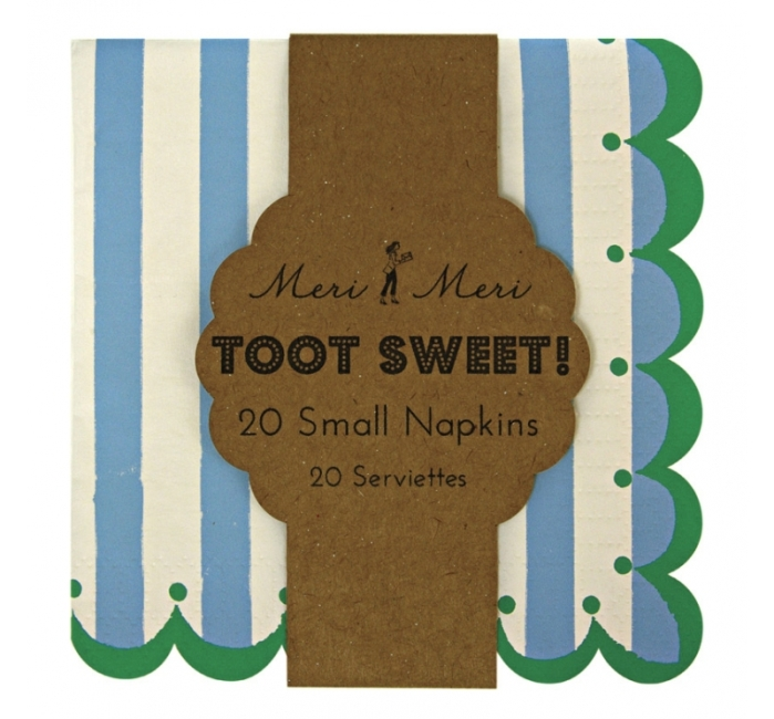 Toot Sweet Blue Small Napkins