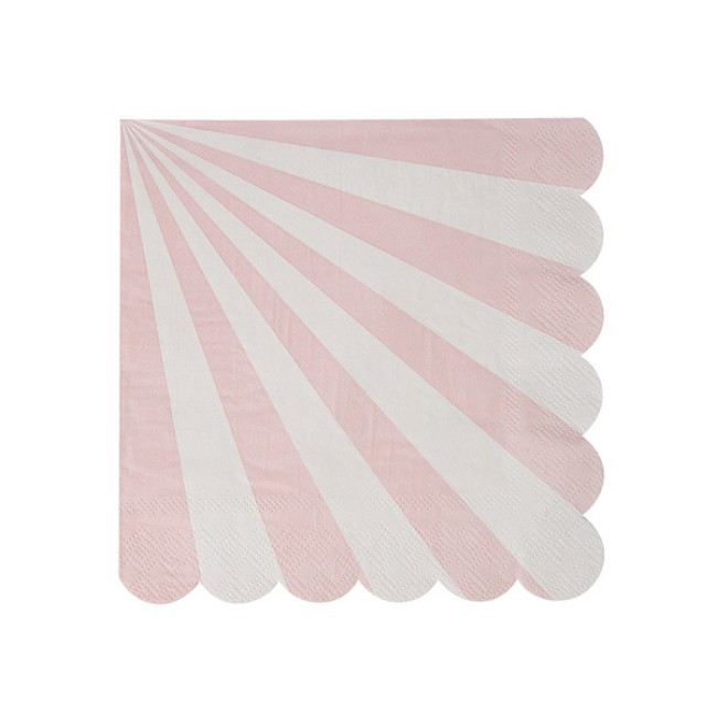 Dusty Pink Striped Small Napkin
