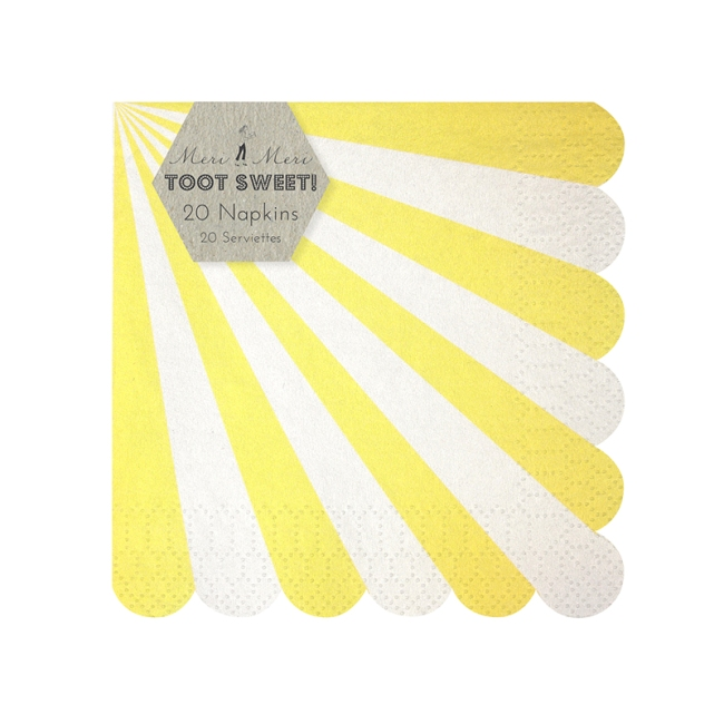 Toot Sweet Yellow Small Napkins
