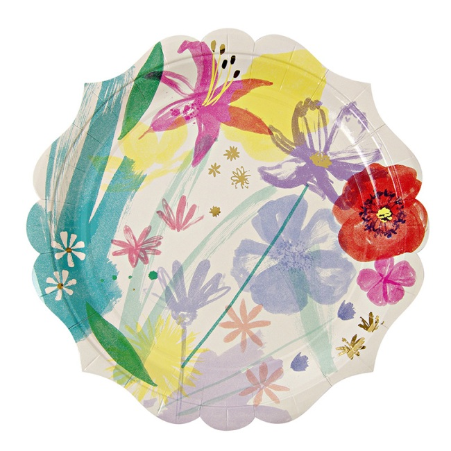 TS Painted Flowers Large Plate