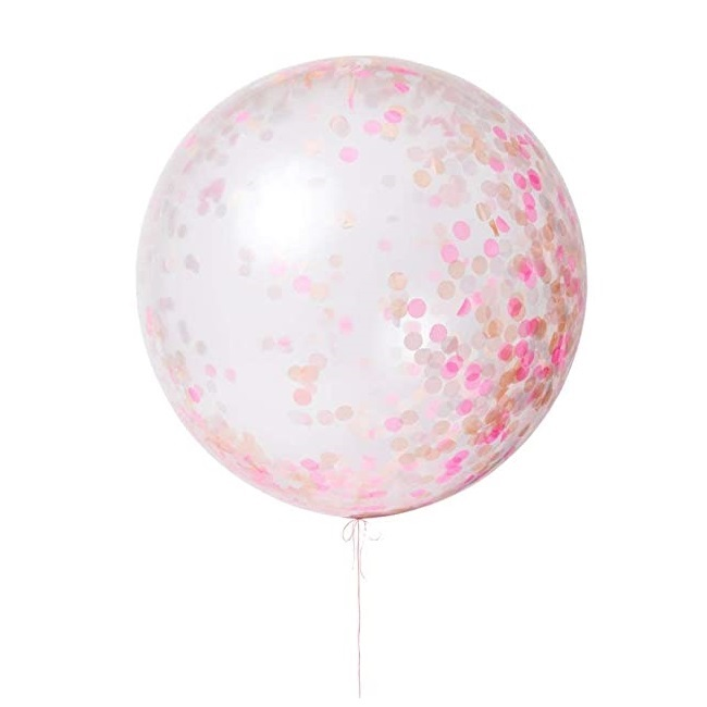 Pink Giant Confetti Balloon Kit